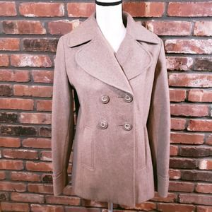 New York & Company Double-breasted Wool Blend Coat